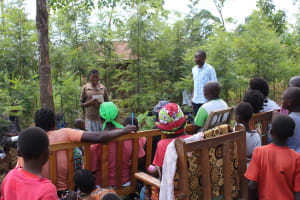 The Water Project: Tumaini Community, Ndombi Spring -  Training Continues