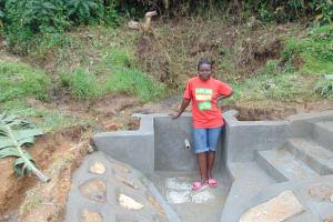 The Water Project: Mukangu Community, Metah Spring -  Roselyne Metah Named After Late Mama Metah