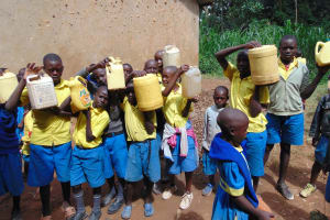 The Water Project:  Pupils Bring Water For Construction