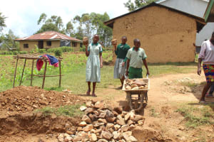 The Water Project: Bugute Lutheran Primary School -  Pupils Deliver Stones