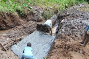 The Water Project: Maondo Community, Ambundo Spring -  Setting The Foundation
