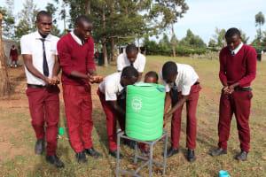 The Water Project: Friends School Ikoli Secondary -  Boys Handwashing