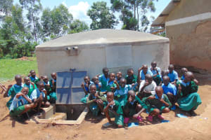 The Water Project: Bumbo Primary School -  Kids Celebrate The Rain Tank