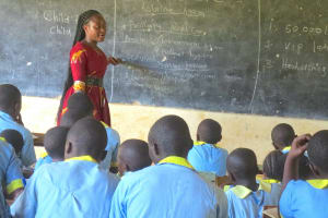 The Water Project: Hobunaka Primary School -  Trainer Aclaine In Action