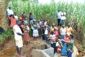 The Water Project: Namarambi Community, Iddi Spring -  Site Management Training At Spring