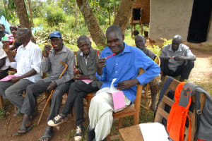 The Water Project: Kalenda B Community, Lumbasi Spring -  Following Along With Dental Hygiene Session