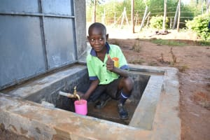 The Water Project: Khwihondwe SA Primary School -  Getting A Fresh Drink