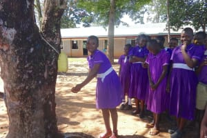 The Water Project: Chiliva Primary School -  Handwashing With A Leaky Tin