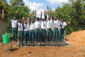 The Water Project: Sawawa Secondary School -  Boys Celebrating New Latrines