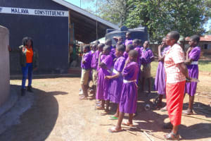 The Water Project: Chiliva Primary School -  Learning Rain Tank Parts