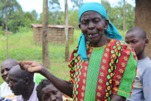The Water Project: Tumaini Community, Ndombi Spring -  Training Participant Shares An Answer