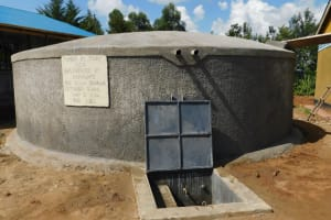 The Water Project: Sawawa Secondary School -  Tank With Water Flowing