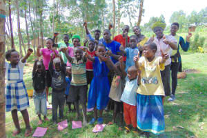 The Water Project: Maondo Community, Ambundo Spring -  Thumbs Up For Completing Training