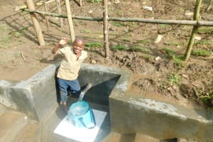 The Water Project: Rosterman Community, Lishenga Spring -  Smiles At The Spring