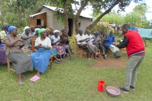 The Water Project: Kalenda B Community, Lumbasi Spring -  Learning Handwashing Steps