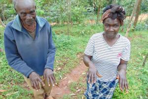 The Water Project: Kitulu Community, Kiduve Spring -  Demonstrating Handwashing Steps