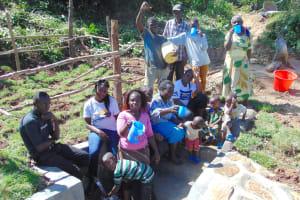 The Water Project: Mukangu Community, Metah Spring -  Community Celebrates New Spring