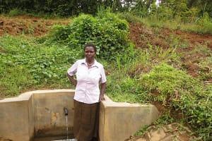 The Water Project: Mwichina Community, Matanyi Spring -  Agnetta Tuanga