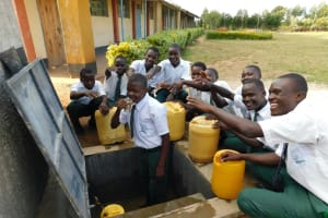 The Water Project: Sawawa Secondary School -  Students Celebrating Clean Water