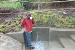 The Water Project: Bukhaywa Community, Shidero Spring -  Enjoying A Fresh Drink