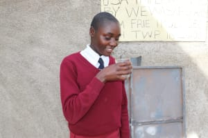 The Water Project: Friends School Ikoli Secondary -  Slyvia Takes A Fresh Drink
