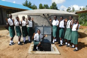 The Water Project: Sawawa Secondary School -  Students Excited About The Tank