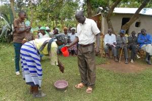The Water Project: Kalenda B Community, Lumbasi Spring -  Handwashing Practice