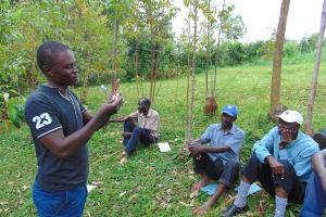 The Water Project: Kitulu Community, Kiduve Spring -  Dental Hygiene Session