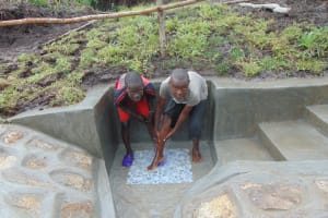 The Water Project: Bukhaywa Community, Shidero Spring -  Cooling Off