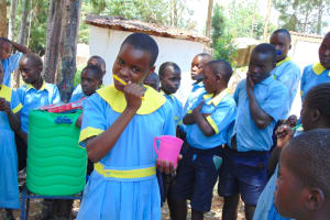 The Water Project: Hobunaka Primary School -  Demonstrating Toothbrushing