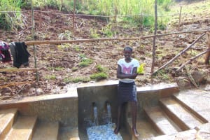 The Water Project: Musiachi Community, Mutuli Spring -  Smiles At The Spring
