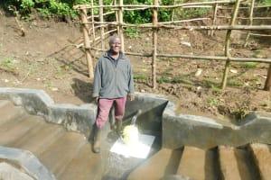 The Water Project: Rosterman Community, Lishenga Spring -  Village Elder Nashon Asasala