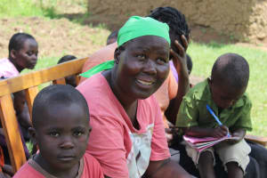 The Water Project: Tumaini Community, Ndombi Spring -  Lots Of Reactions Throughout The Day