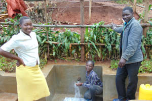 The Water Project: Imusutsu Community, Ikosangwa Spring -  Smiles At The Spring
