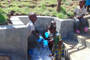 The Water Project: Mukangu Community, Metah Spring -  Kids Get A Fresh Drink