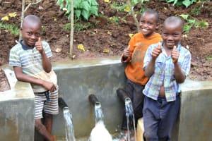 The Water Project: Namarambi Community, Iddi Spring -  Kids Give Approval