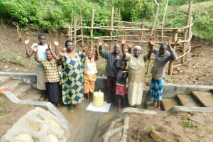 The Water Project: Rosterman Community, Lishenga Spring -  Celebrating The Spring