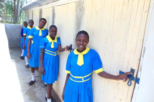 The Water Project:  Girls Posing At Vip Latrines