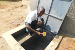 The Water Project: Sawawa Secondary School -  Pupil Elijah Enjoying A Drink
