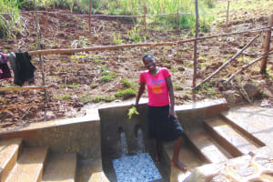 The Water Project: Musiachi Community, Mutuli Spring -  Clean Water Flowing