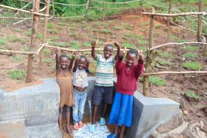 The Water Project: Maondo Community, Ambundo Spring -  Kids Celebrate The Spring