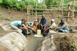 The Water Project: Rosterman Community, Lishenga Spring -  Look What We Have Now