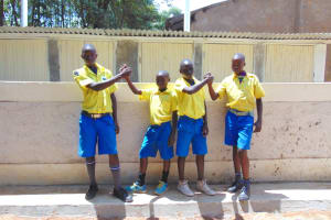 The Water Project:  Boys Posing At Vip Latrines