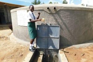 The Water Project: Sawawa Secondary School -  Pupil Anabel Celebrates Water