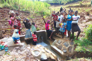 The Water Project: Musiachi Community, Mutuli Spring -  Celebrating The Spring