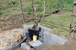 The Water Project: Emurumba Community, Makokha Spring -  Thumbs Up For Clean Water