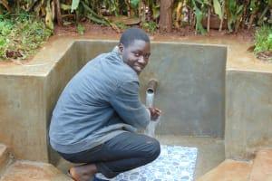 The Water Project: Imusutsu Community, Ikosangwa Spring -  Enjoying The Spring Water