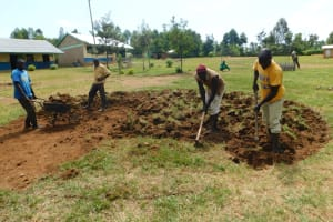 The Water Project: Khwihondwe SA Primary School -  Excavation For Foundation