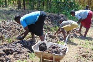 The Water Project: Mwichina Community, Matanyi Spring -  Sourcing Clay