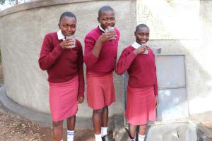 The Water Project: Friends School Ikoli Secondary -  Enjoying A Fresh Drink